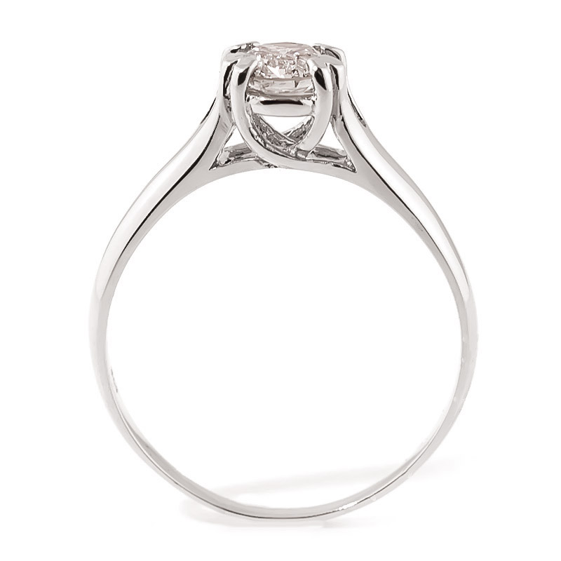 Diamond Solitaire Ring in 9ct White Gold