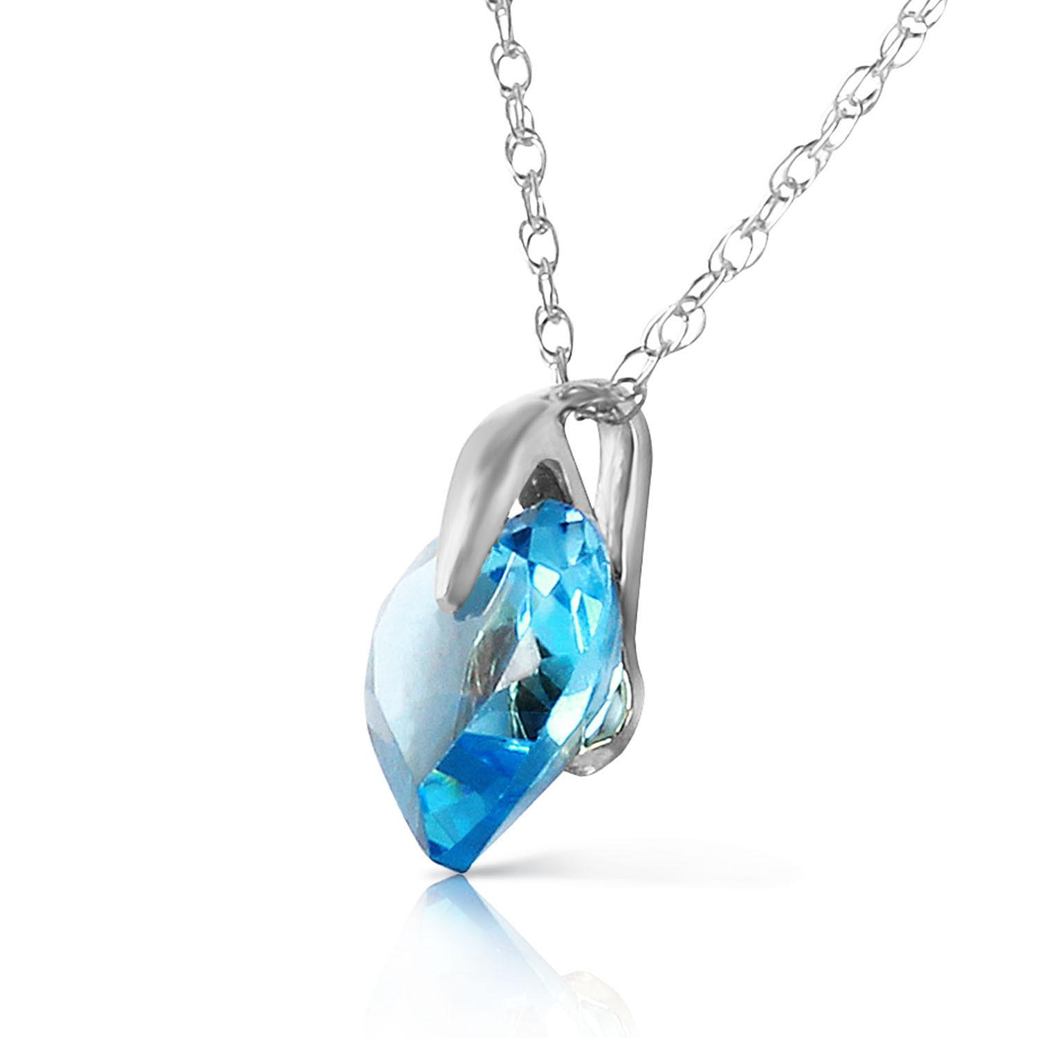 Blue topaz heart pendant necklace 115ct in 9ct white gold 2357w blue topaz heart pendant necklace 115ct in 9ct white gold aloadofball Image collections