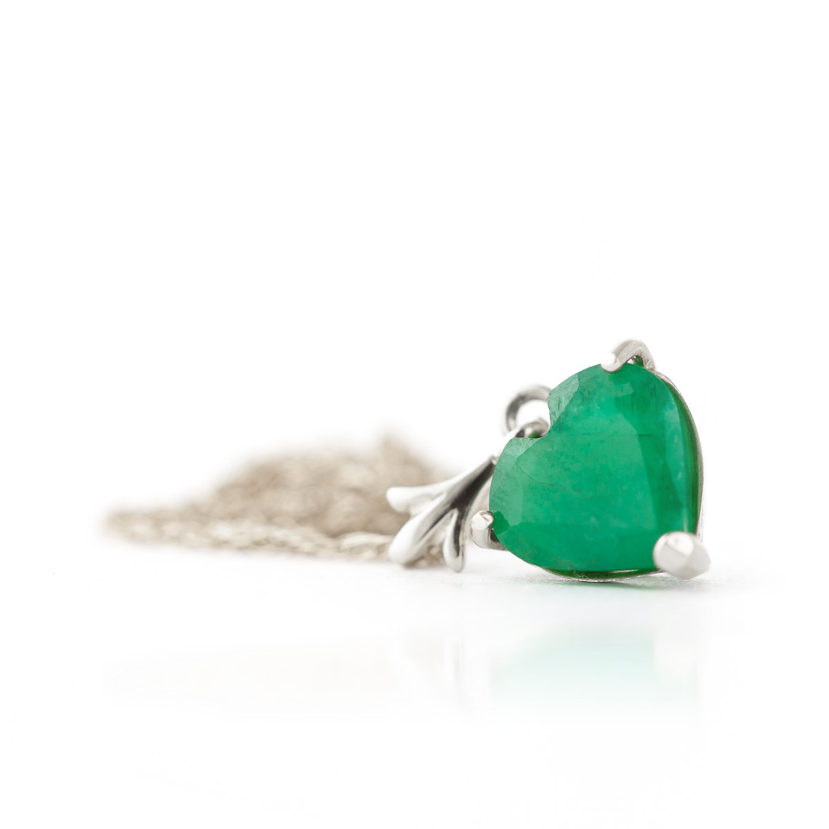 Emerald heart pendant necklace 12ct in 9ct white gold 4184w emerald heart pendant necklace 12ct in 9ct white gold aloadofball Images