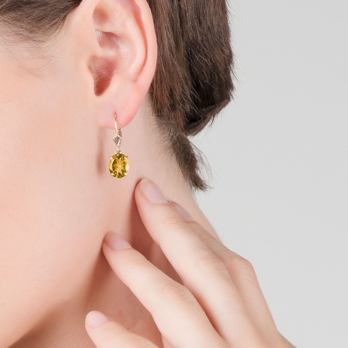 Citrine Drop Earrings 6.25 ctw in 9ct Gold