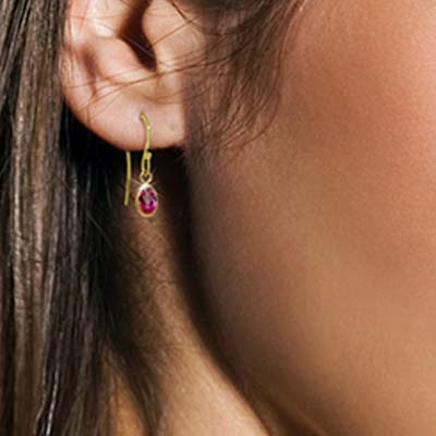 Pink Topaz Allure Drop Earrings 1 ctw in 9ct Gold