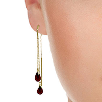 Garnet Scintilla Earrings 2.5 ctw in 9ct Gold