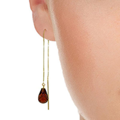 Garnet Scintilla Earrings 4.5 ctw in 9ct Gold